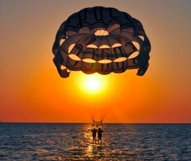 Parasail sunset