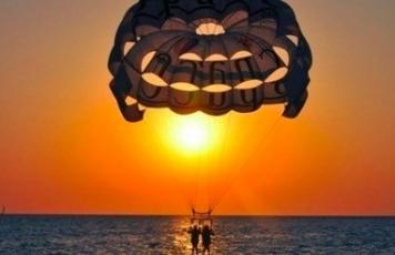 Parasail sunset