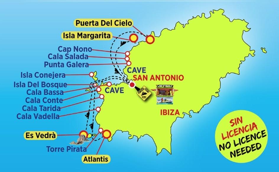 IBIZA JET SKI MAP TOURS